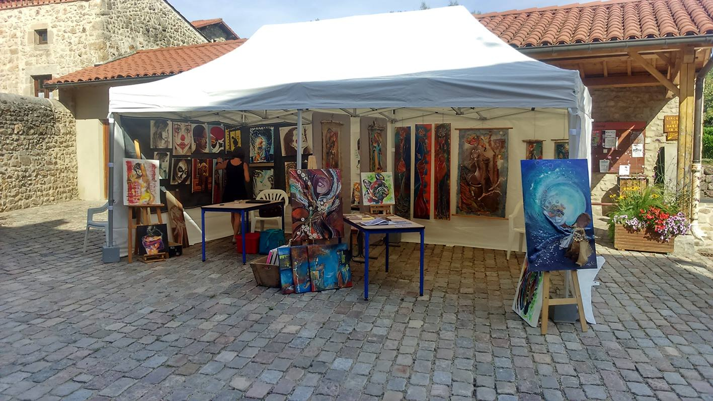Exposition village d'artistes de Marols
