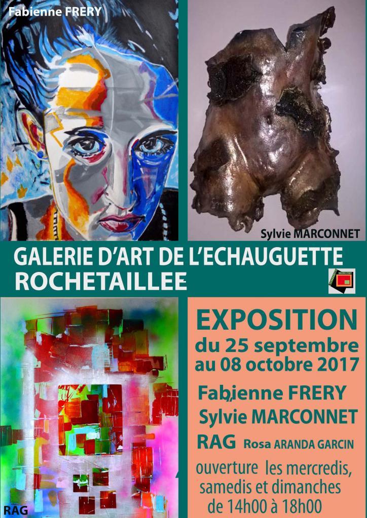 Affiche exposition galerie l'Echauguette Rochetaillée 2017