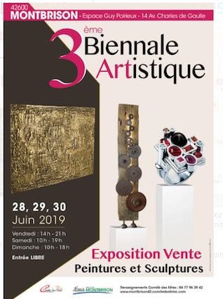 Exposition 3ème Biennale artistique Montbrison 2019