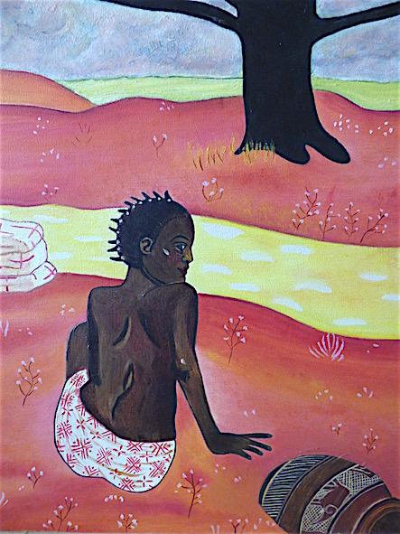 Conte africain - huile sur toile - 38x46