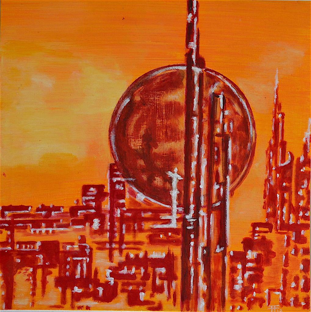 Lunaire III - acrylique sur toile - 40x40
