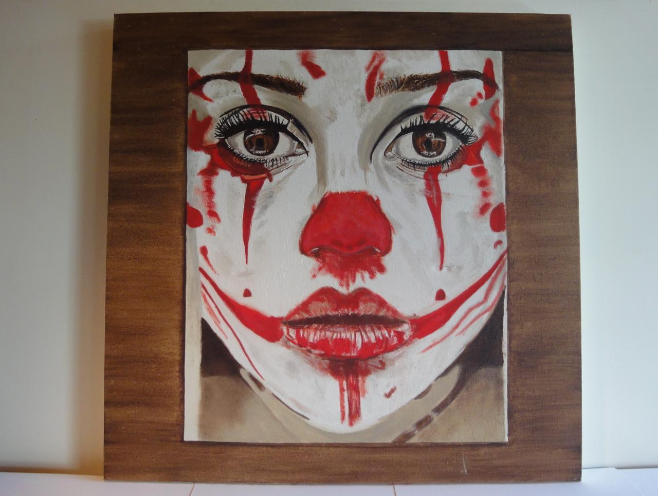 Visage, huile sur toile, 60x60, collection privée