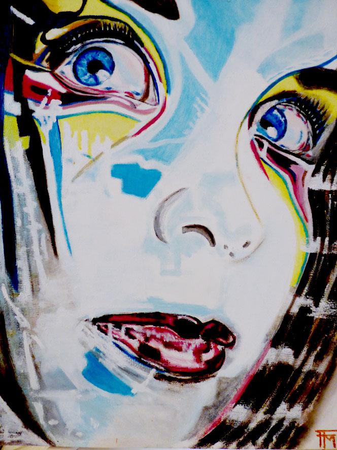 Elisa manga - huile sur toile - 40x50 - 180€
