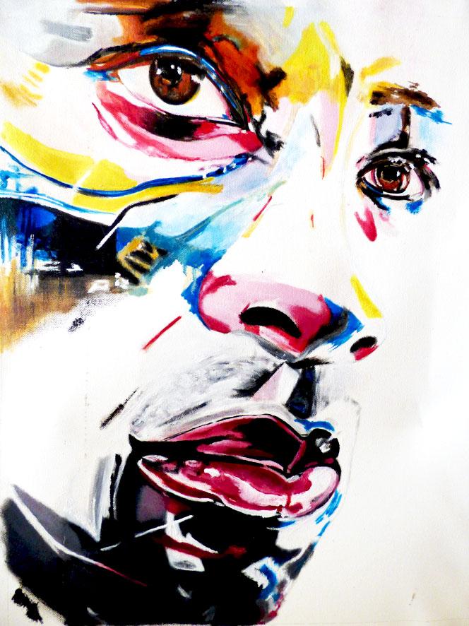 Hommage à F. GOVARE - 70x50 - huile sur toile - collection privée