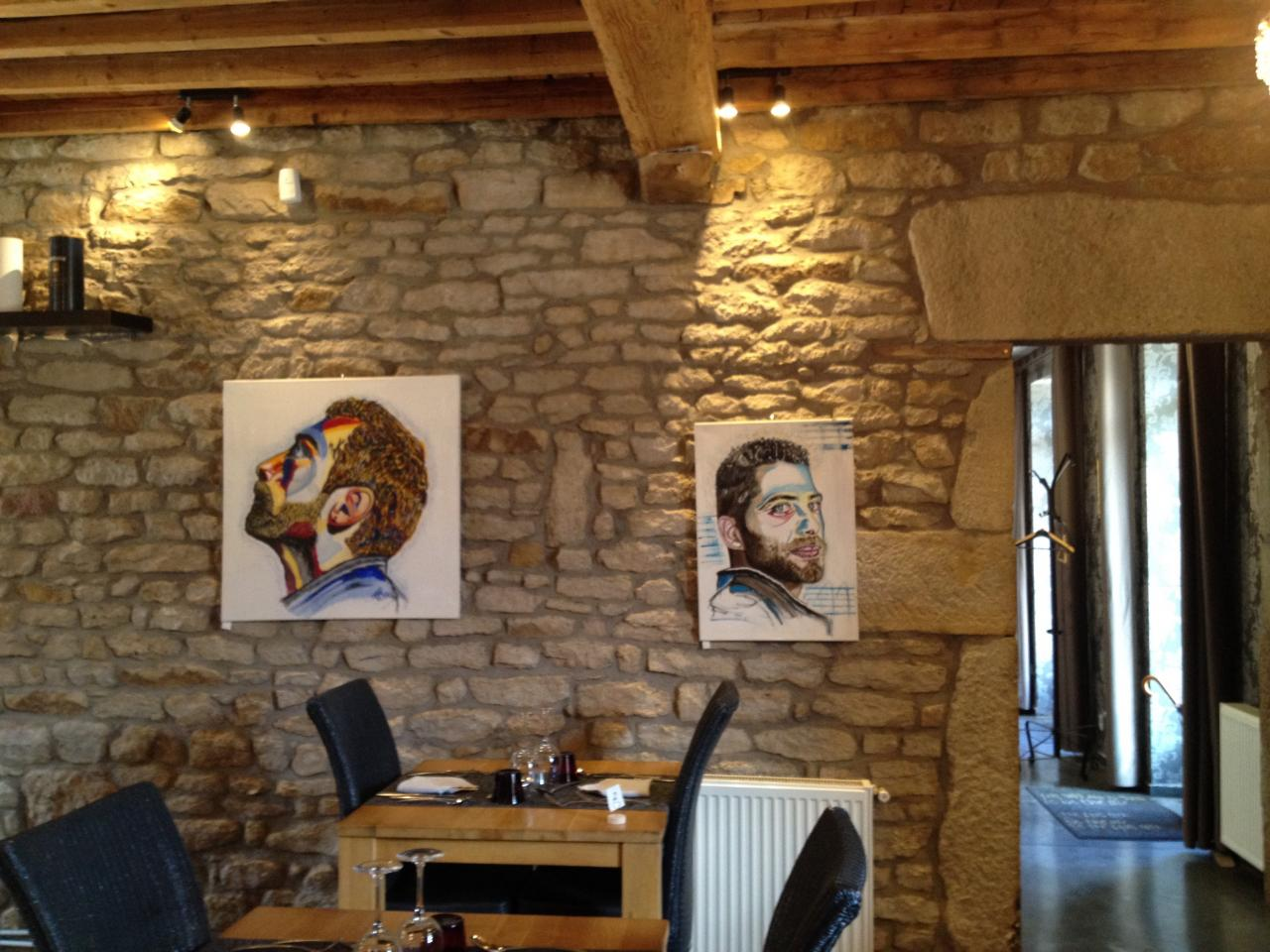 """Exposition restaurant """"les vieilles pierres"""" La Talaudière"""""""