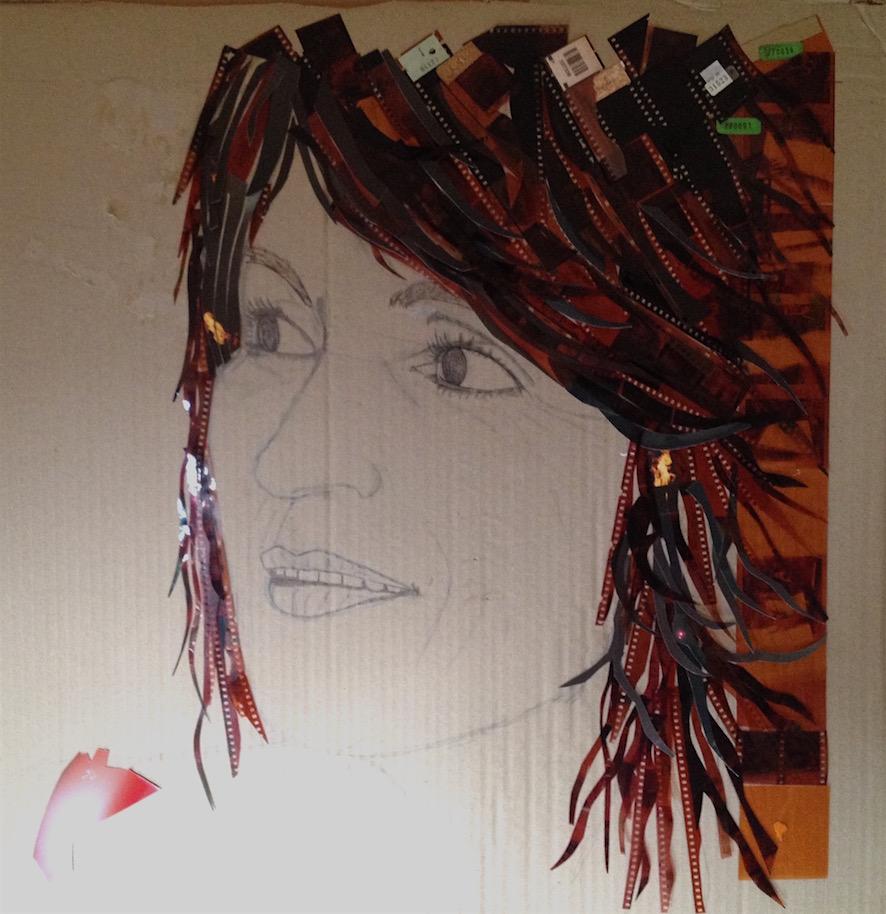 En cours de réalisation - négatifs photo - crayon - sur carton - 67x52