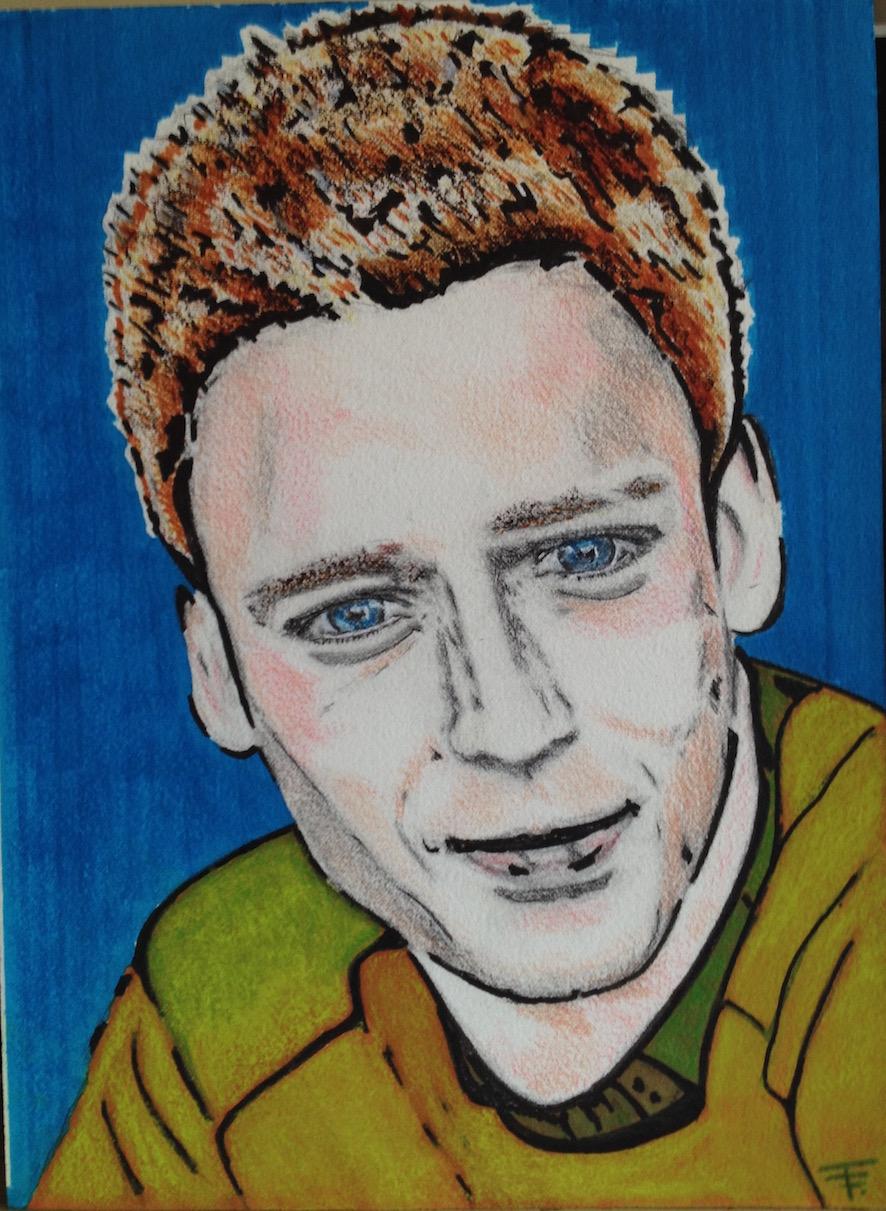 Mat'  - crayons couleurs,  feutres, pastel sur papier Arches -  21x37 - C.P.