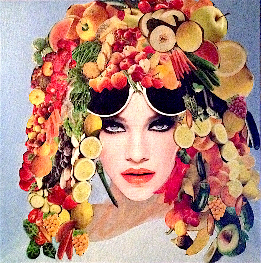 Collage - peinture acrylique sur toile 40x40 - 200 €