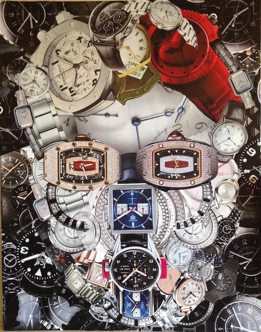 CORONA TIME - collage sur calendrier - 43x55 - 340 €