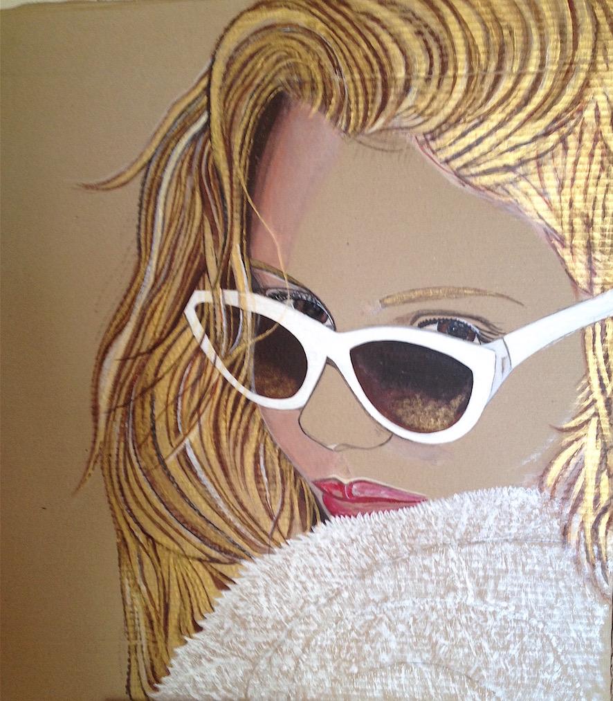 Julie - Acrylique, feutres promarker, posca,  sur carton - 7Ox75