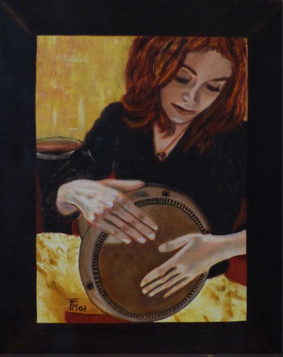 marlène darbouka -  huile sur toile - 46x55 - collection privée