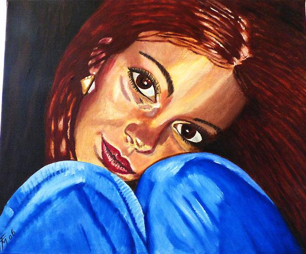 Marlène, huile sur toile, 46x38, collection privée