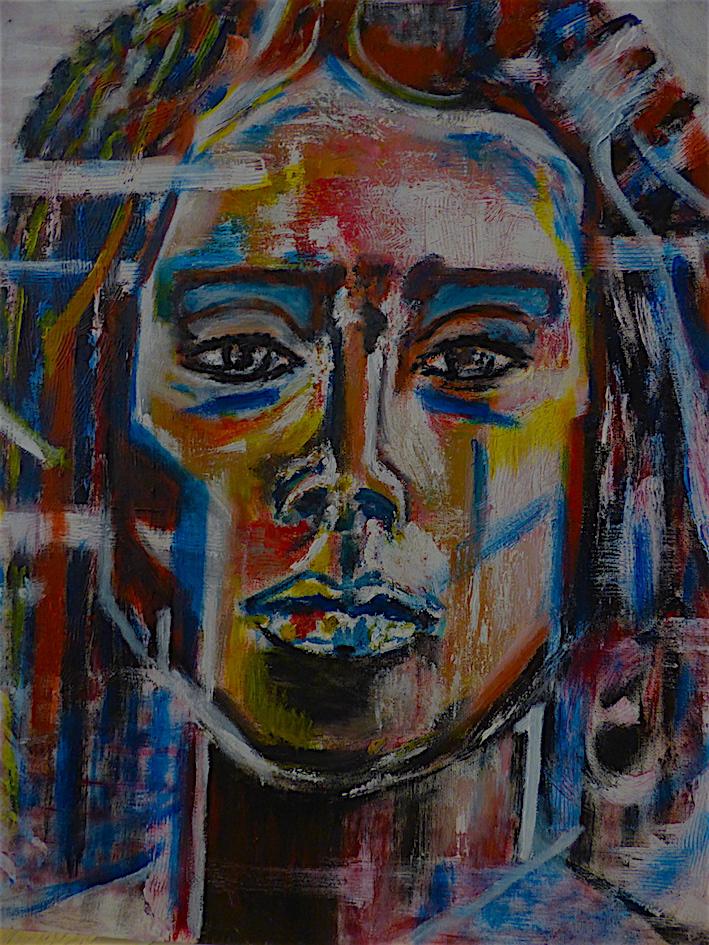Indien III - Acrylique sur toile - 50X40 - 150€