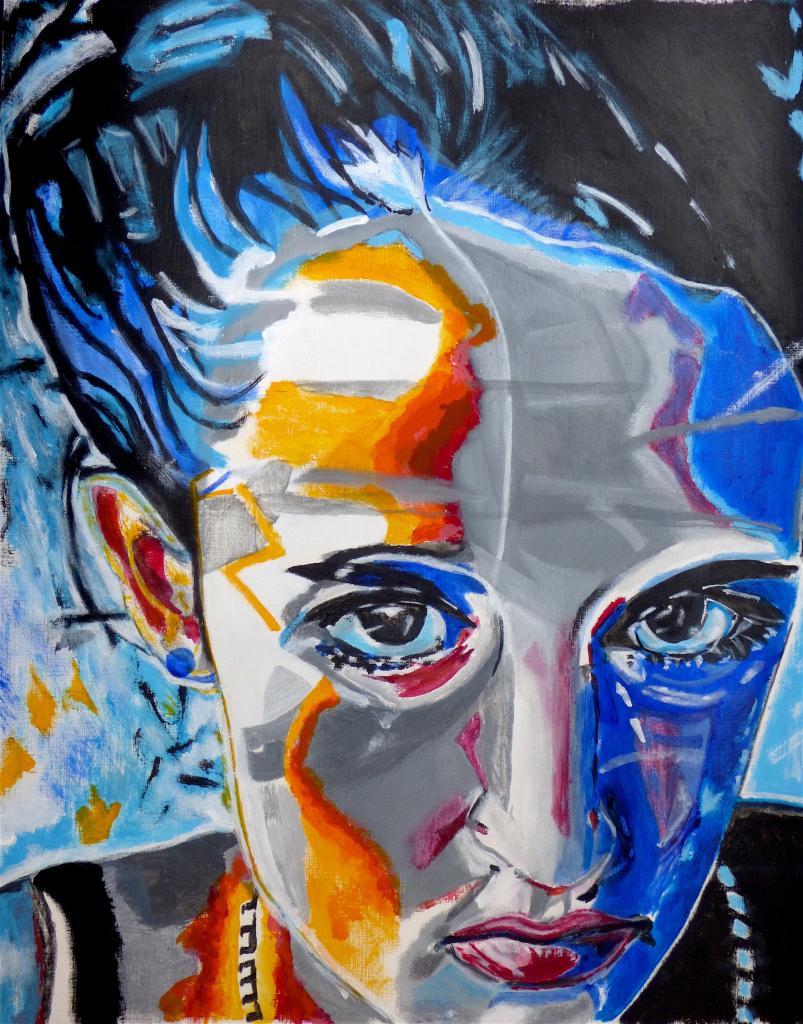 Chloé - acrylique sur papier entoilé - 50x75 - 220 €