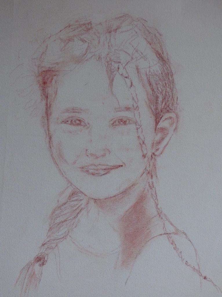 Zoa - esquisse - crayon sanguine