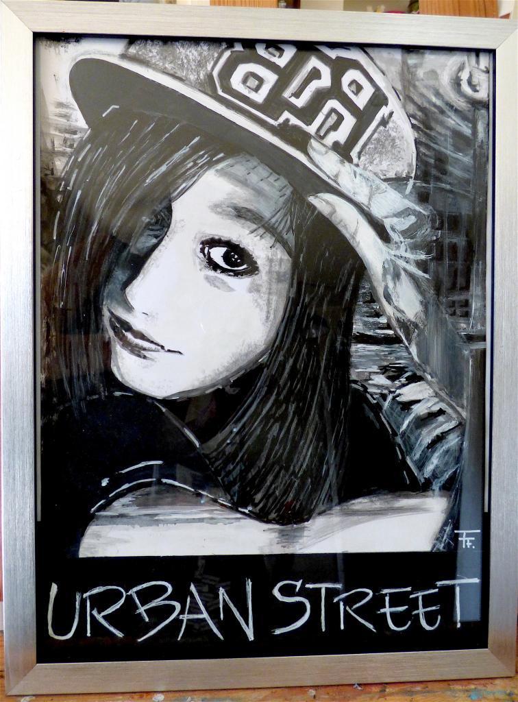Urban street - 29x33 - Acrylique, marqueur, Posca -