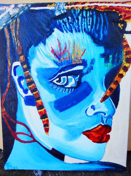Avatar - acrylique sur toile -  27x35 - collection privée