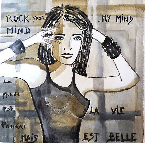 Rock your mind - acrylique sur toile - 40x40 - 120 €